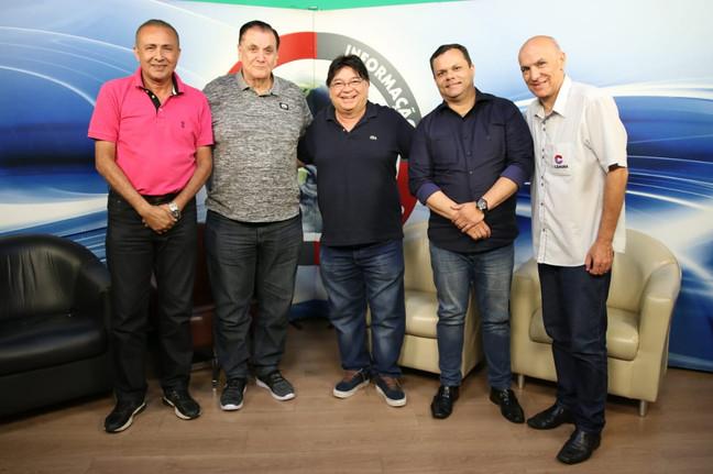 Cacpitão Neves, Sérgio Cunha, OSvaldo Maciel, Glaucio e Dernival