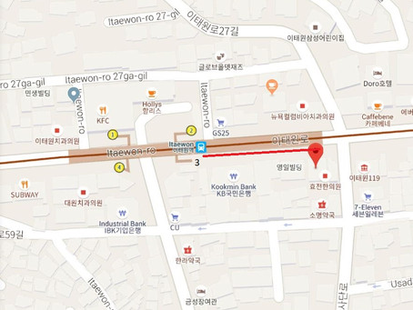 Absolute: Seoul Pub Crawl Itaewon Map