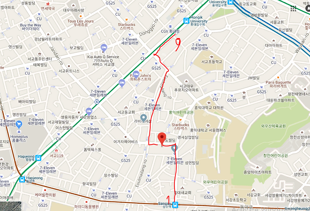 Hongdae Absolute Seoul Pub Crawl Map