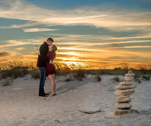 Engagement Washington Oaks Gardens Beach Photo