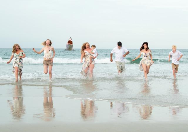 Shark Run Family Beach Portrait session