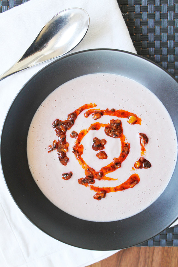 Purple Cauliflower-Walnut Soup