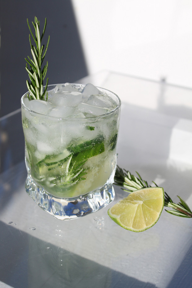 Cucumber Lime Rosemary Vodka Mojito