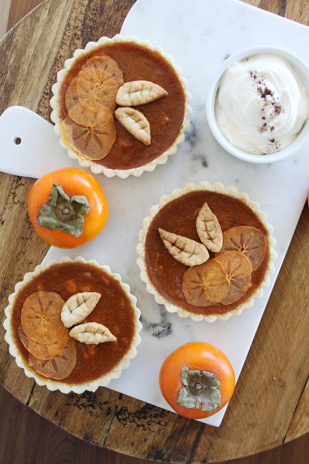 Salted Toffee Pumpkin & Persimmon Tart