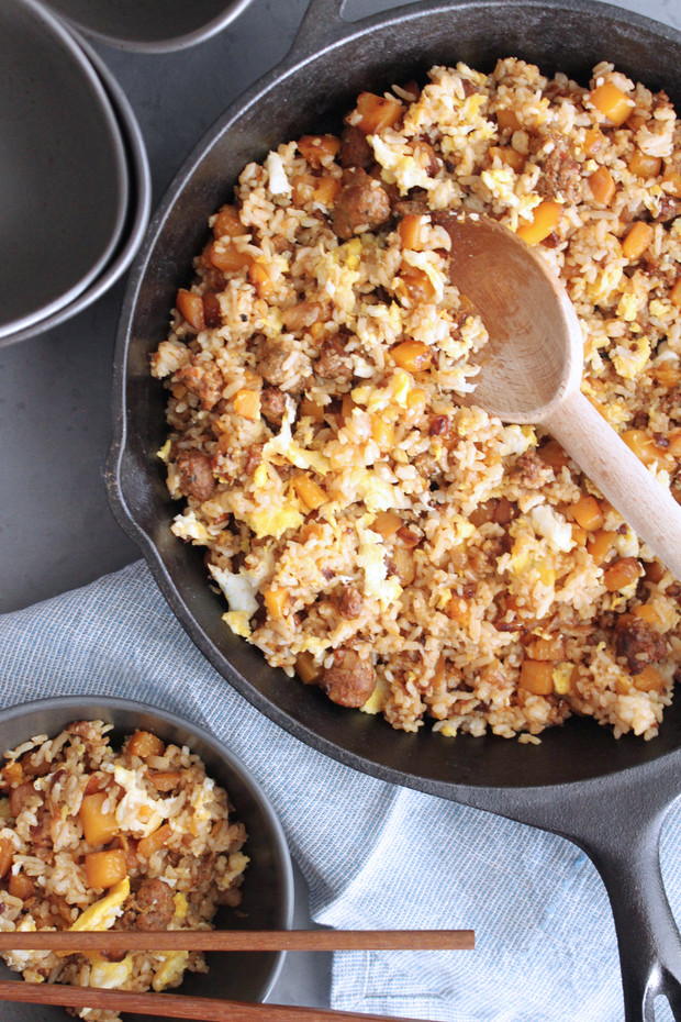 Butternut Squash & Chorizo Fried Rice