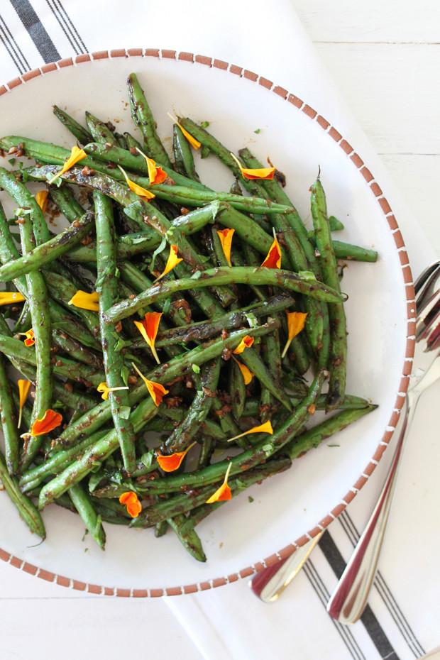 Garlic Miso Green Beans