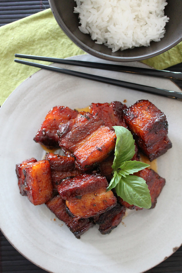 Sriracha & Basil Roasted Pork Belly