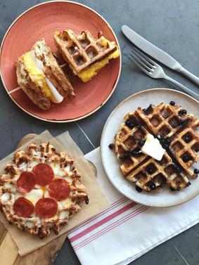 """""""Chaffles"""" for Breakfast, Lunch & Dinner"""