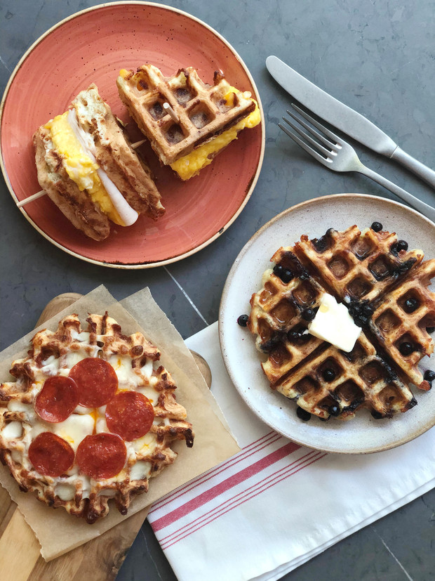 """Chaffles"" for Breakfast, Lunch & Dinner"