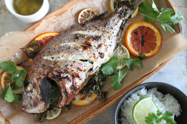 Whole Thai Snapper with Garlic-Lime Sauce