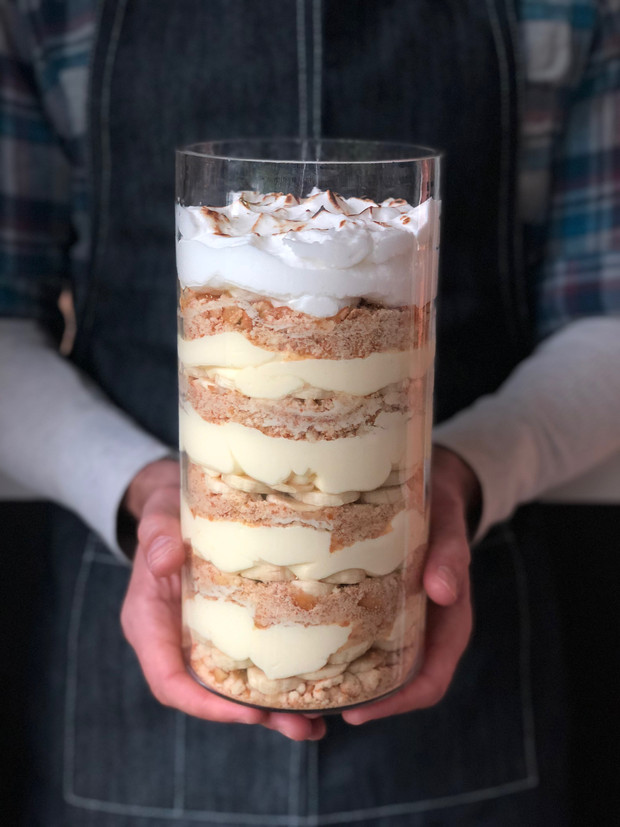 Banana Pudding with Toasted Meringue