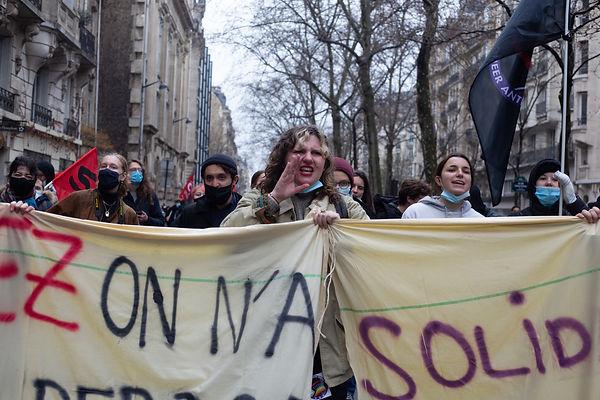©Patricia Quentin , 16 mars 2021 manifestation des étudiants contre la précarité étudiante