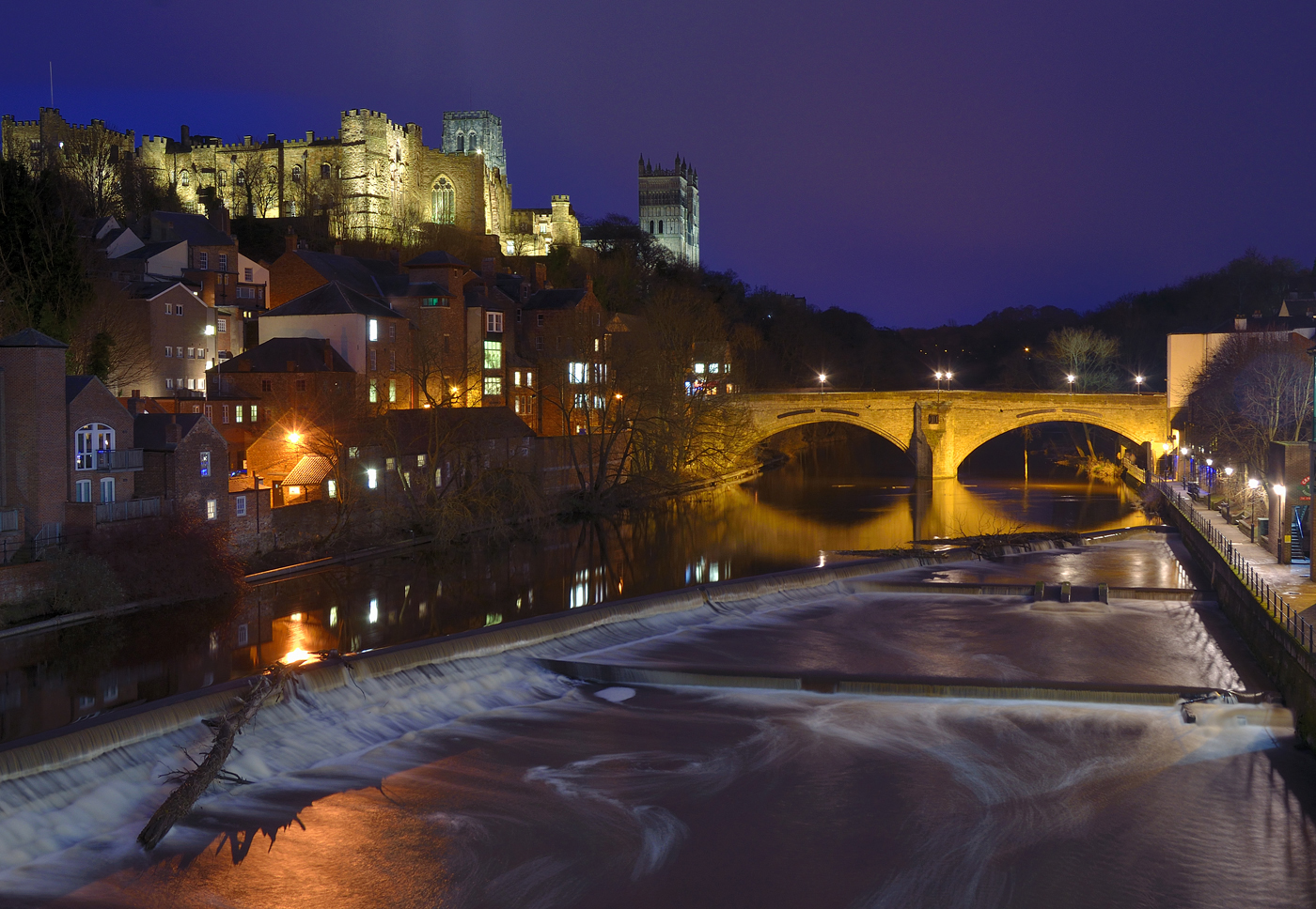 Durham at night, Mike Vasey