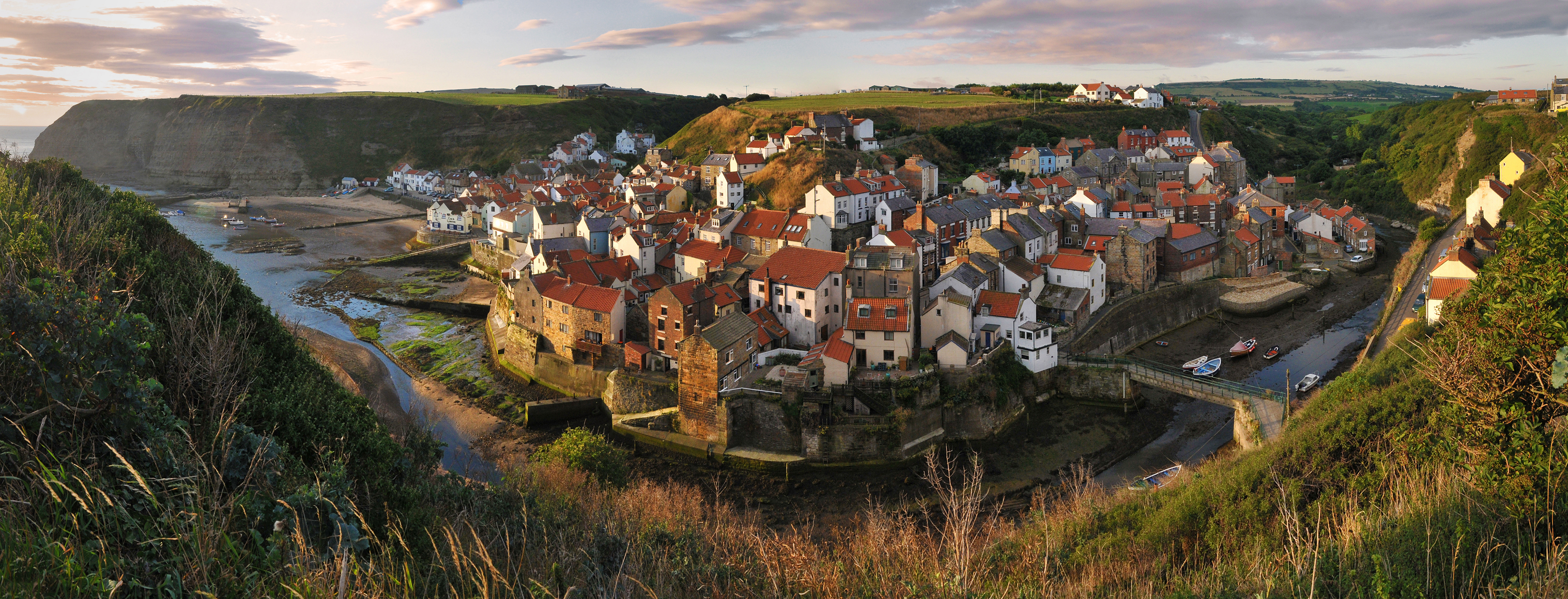 Staithes Panorama, Brian Swales