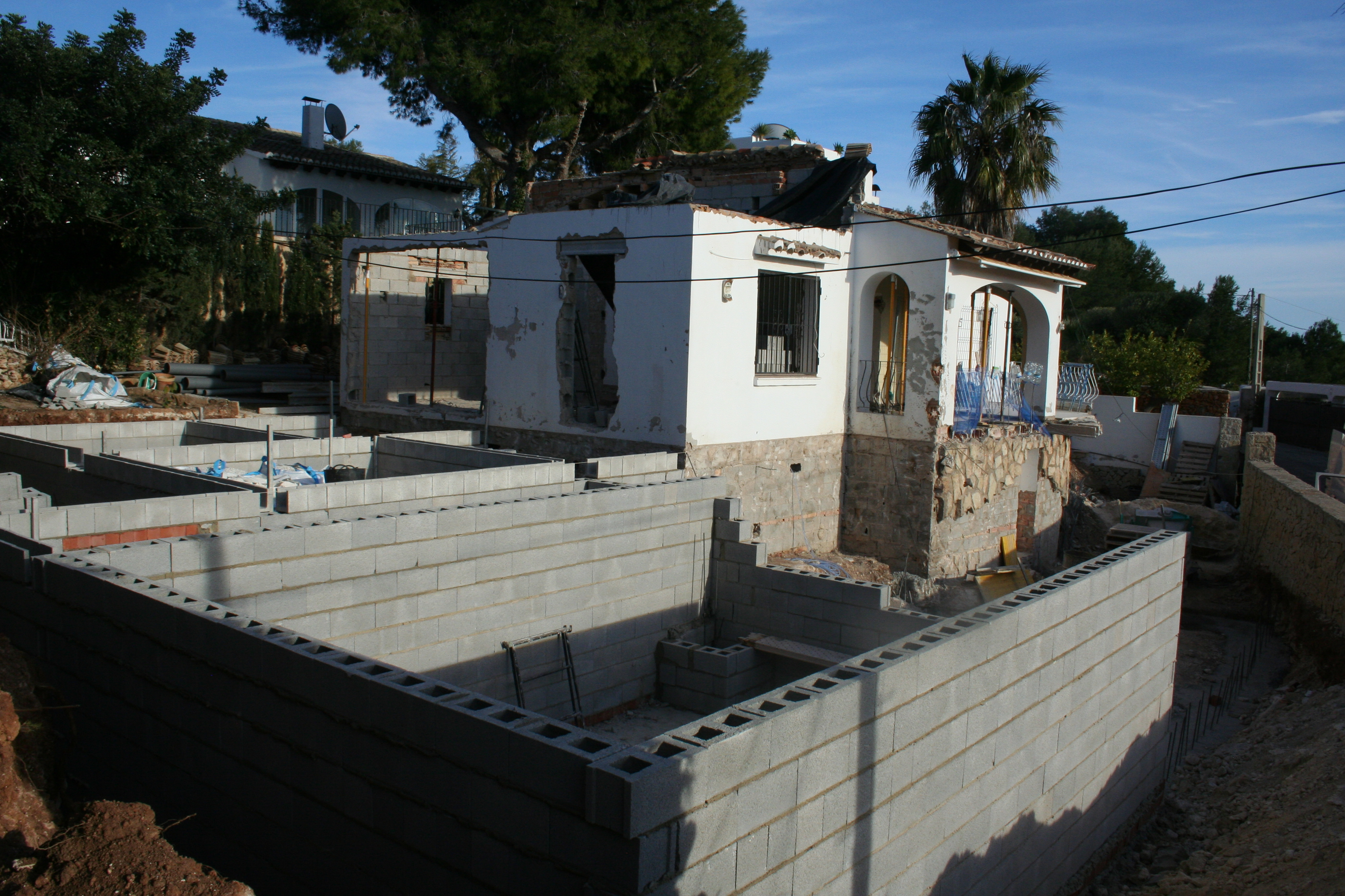 New Build During construction