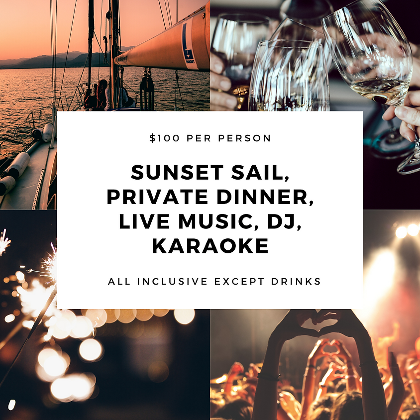 Sunset Cruise, Private Dinner & Live Entertainment  *Spaces Limited*