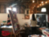 Photo of Kimberly Androlowicz in her studio.