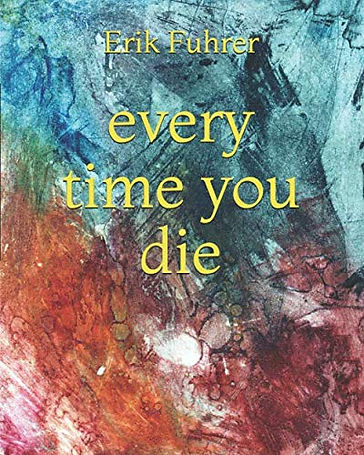 every time you die cover image, including yellow lettering on a blue and red background that resembles a watery landscape.
