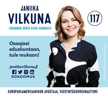 Janiika Vilkuna elections campaign (2019).