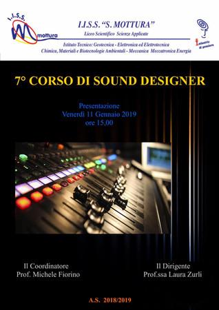 7° Corso di Sound Designer al Mottura