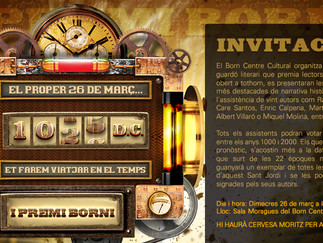 Primer Premi Borni, en el Born de Barcelona, el 26 de marzo