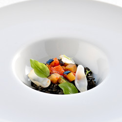 Squid-ink-risotto