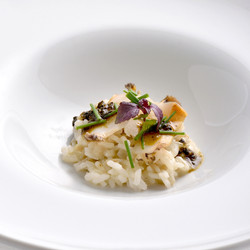 Burdock-risotto-and-blanched-abalone