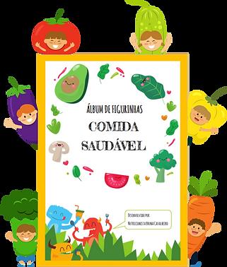 Álbum de figurinhas COMIDA SAUDÁVEL