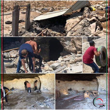 """""""Restoring Caves in Sarura"""" support for Youth of Sumud"""