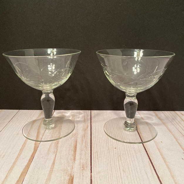 Wide Mouth Champagne Glasses