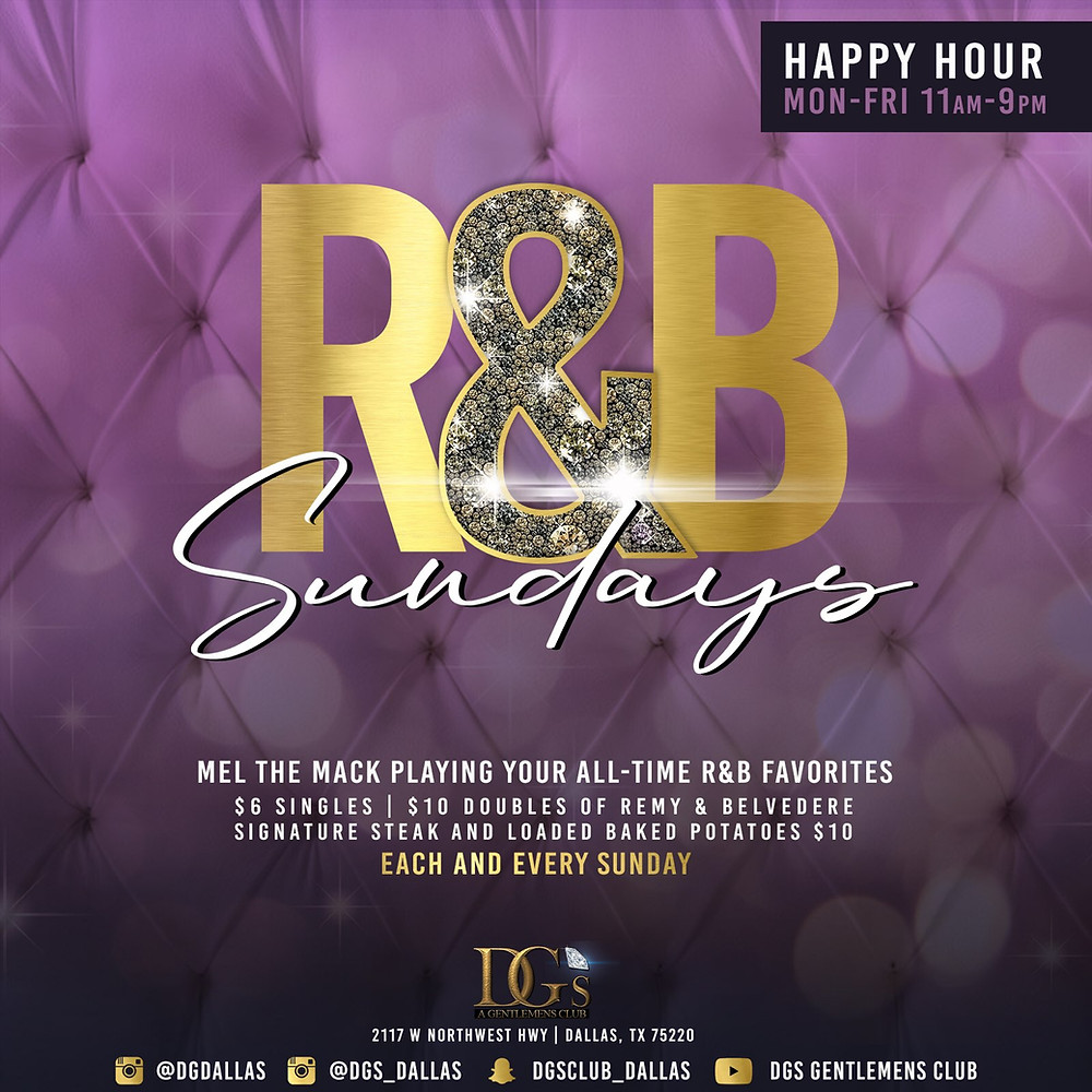 R&B Sundays With Remy & Belvedere On Special! Also check out our $10 Steak & Loaded Potatoes! Let's get your GROOVE on this Sunday!