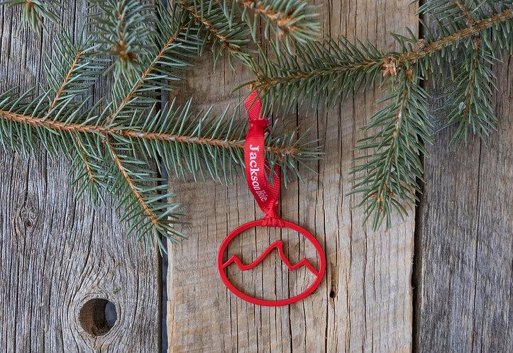 Red Powder Coated Teton Ornament
