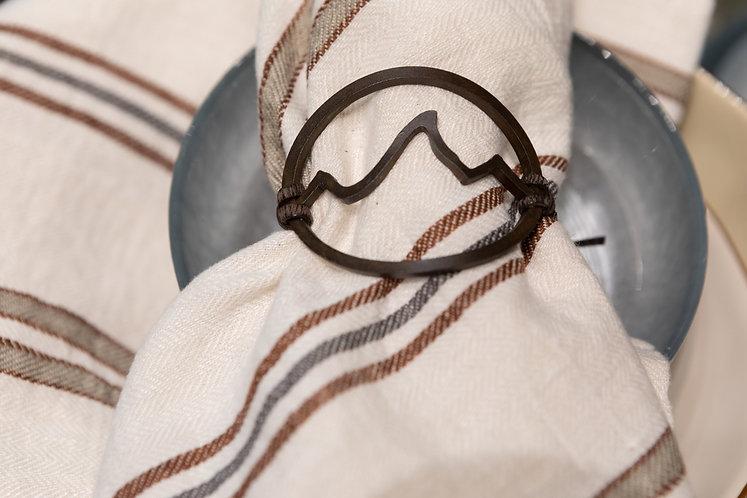 Teton Napkin Ring - Open Design Rust Patina