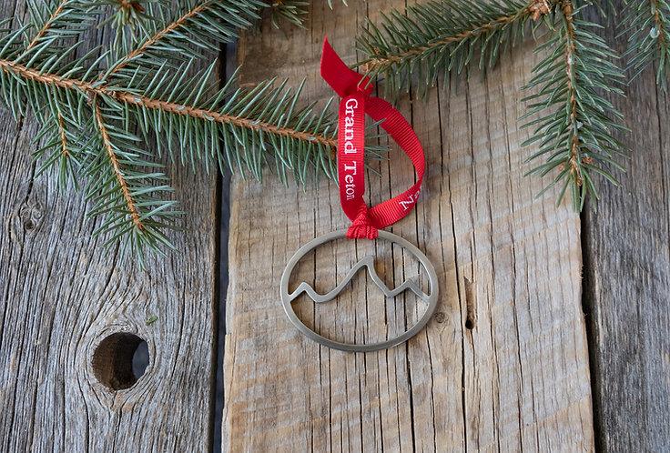 Stainless Steel Teton Ornament