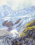 Swiss Glacier, Pastel