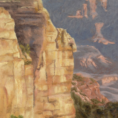 Canyon Light, Pastel