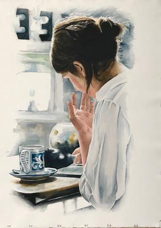Coffee and a Book by Jon Crocker