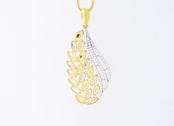 Paddy Grain Design Gold Pendant