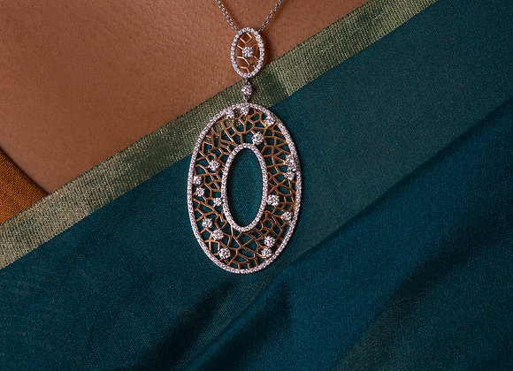 Oval Rose-Gold Pendant