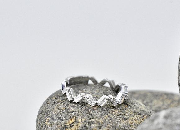 Zig-Zag Stackable Ring