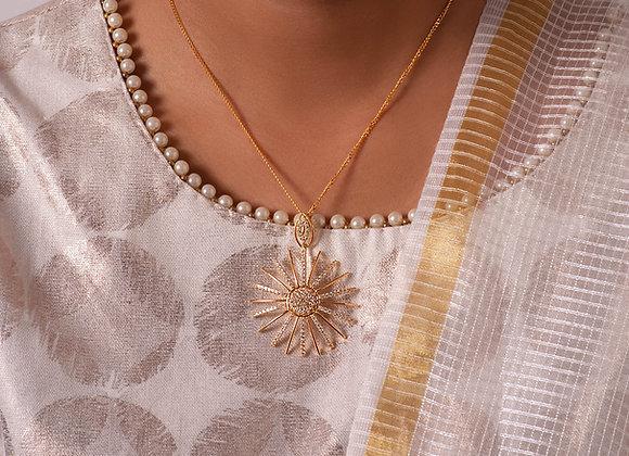 Gold Sundial Pendant