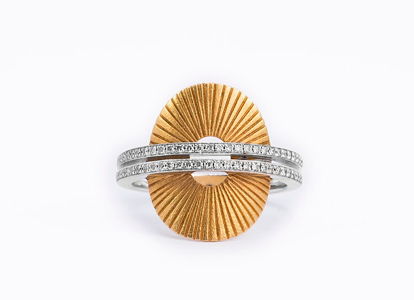 18KT White & Rose Gold Ring