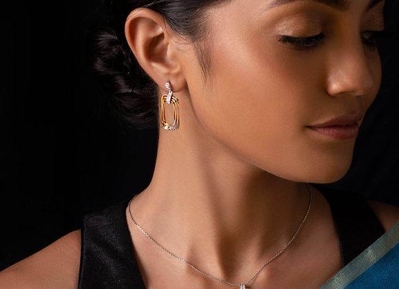 Rose-Gold Diamond Pendant & Earring Set