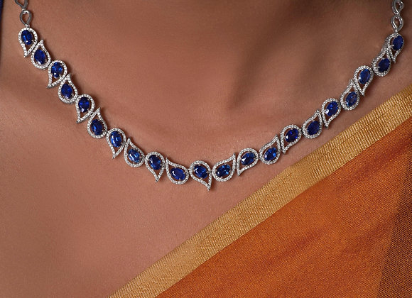 Contemporary Blue Sapphire Necklace