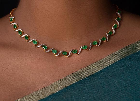 Pear Emerald Necklace