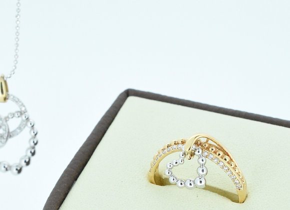 Gold Ring With Heart Movable