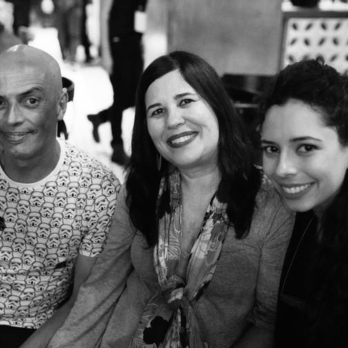 Negão dos Santos, Renata e Lia - Família Paranga (Elpídio dos Santos)  Foto: Valéria Zoppello