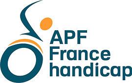 Logo bloc APF France handicap bichromie.