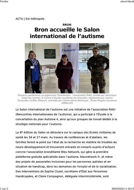 salon international de l'autisme 21 Le P