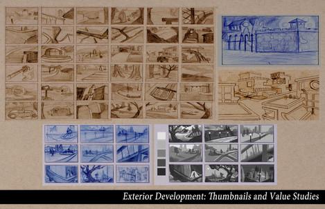 Exterior Development Sketches
